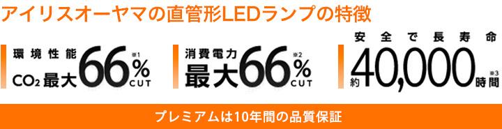 アイリスオーヤマの直管形LEDランプの特徴